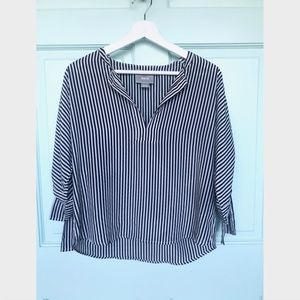 Anthropologie Maeve Black & White Striped Blouse